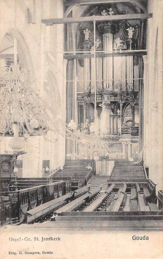 Ansichtkaart Gouda Gompers Orgel Gr. St. Jans kerk HC1800