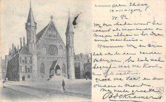 Ansichtkaart Den Haag 1901 Humor Loteryzaal Ridderzaal 's-Gravenhage HC1808