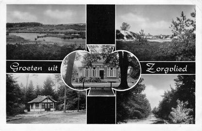 Ansichtkaart Zorgvlied Groeten uit 1962 Westerveld Drenthe Vijfluik HC1819