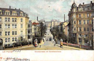 Ansichtkaart Leipzig 1903 Dorotheenplatz mit Dorotheenstrasse Duitsland HC1835