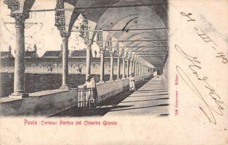 Ansichtkaart Pavia (Certosa) 1903 Portico del Chiostro Grande Italië Italia HC1841
