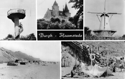 Ansichtkaart Burgh - Haamstede Kasteel Molen Strand HC1848