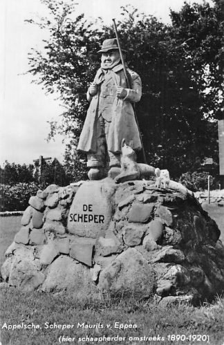 Ansichtkaart Appelscha Scheper Maurits van Eppen Schaapherder Monument HC1856