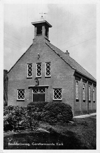 Ansichtkaart Beetsterzwaag 1953 Gereformeerde Kerk HC1857