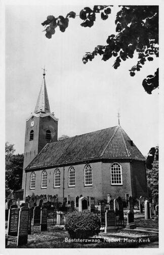 Ansichtkaart Beetsterzwaag Ned. Hervormde Kerk Begraafplaats 1953 HC1858