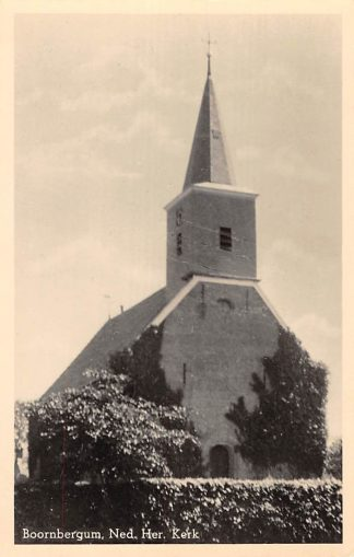 Ansichtkaart Boornbergum 1947 Ned. Hervormde Kerk HC1860