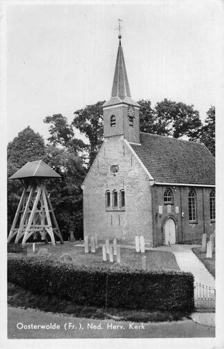 Ansichtkaart Oosterwolde 1950 Klokkenstoel Ned. Herv. Kerk Begraafplaats  HC1866