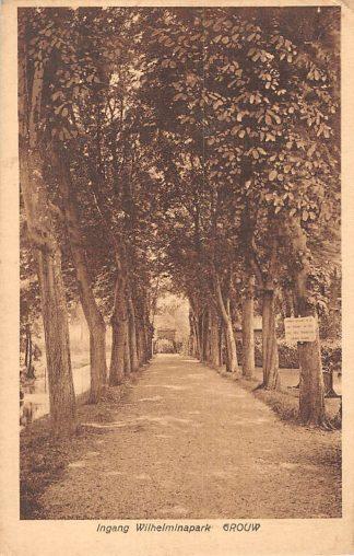 Ansichtkaart Grouw Ingang Wilhelminapark HC1873