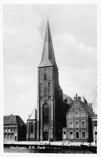 Ansichtkaart Harlingen R.K. Kerk 1955 HC1874