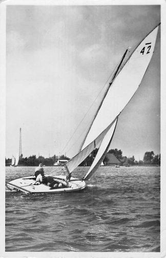 Ansichtkaart Grouw 1944 Zeilwedstrijd Zeilen HC1878