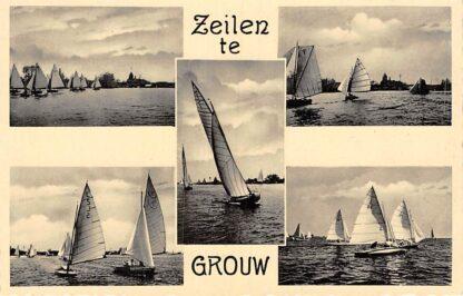 Ansichtkaart Grouw Zeilen te Grouw HC1909