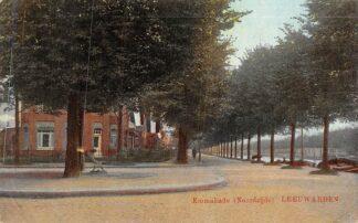 Ansichtkaart Leeuwarden 1922 Emmakade Noordzijde HC1917