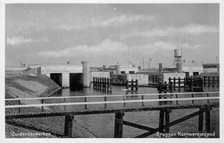 Ansichtkaart Harlingen Bruggen Kornwerderzand Zuiderzee werken HC1932