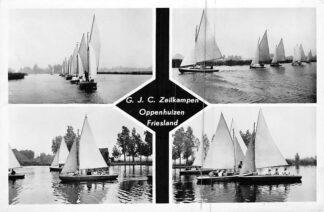 Ansichtkaart Oppenhuizen G.J.C. Zeilkampen Zeilen Uitg. Gereformeerde Jeugd Centrum 1955 HC1937