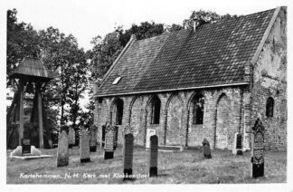 Ansichtkaart Kortehemmen Ned. Hervormde Kerk met Klokkenstoel en begraafplaats 1955 HC1942
