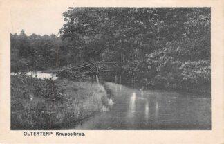 Ansichtkaart Olterterp 1924 Knuppelbrug HC1946