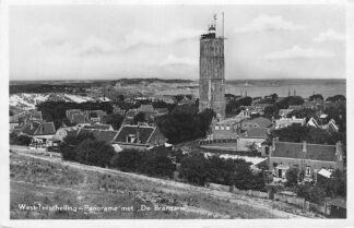 Ansichtkaart Terschelling West-Terschelling Panorama met de Brandaris 1948 Vuurtoren HC1947