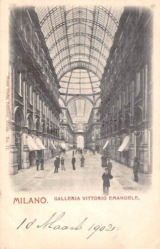 Ansichtkaart Milano 1902 Galleria Virrorie Emanuele Italië Italia HC1972