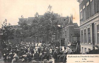 Ansichtkaart Utrecht Maskerade 25 juni 1901 Le Roy Militair HC1974