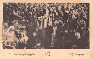Ansichtkaart Amsterdam 1901 De huwelijksplechtigheid Koningin Wilhelmina en Prins Hendrik Koningshuis HC1977