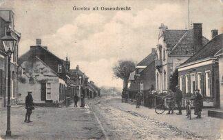 Ansichtkaart Ossendrecht Groeten uit 1918 Dorpsgezicht HC1982