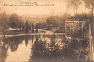 Ansichtkaart Maastricht 1926 Villapark met vijver en rondeel - Haet ende Nijt 1516 HC2004