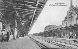 Ansichtkaart Roosendaal 1918 Station Stations-Emplacement Trein Spoorwegen HC2005