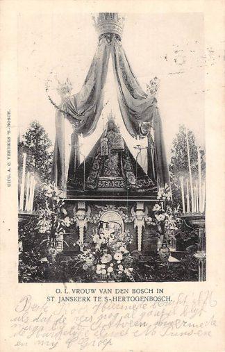 Ansichtkaart 's-Hertogenbosch 1906 O.L. Vrouw van Den Bosch in St. Jans kerk HC2019