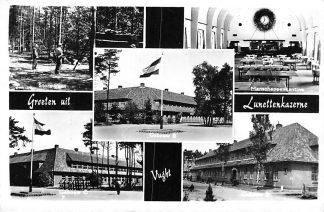 Ansichtkaart Vught 1962 Groeten uit Lunetten kazerne Militair HC2023