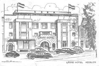 Ansichtkaart Heerlen Reclame Grand Hotel Café Restaurant Bar 1957 HC2049