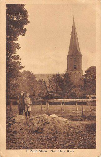 Ansichtkaart Zuid Sleen 1933 Ned. Hervormde Kerk HC2112