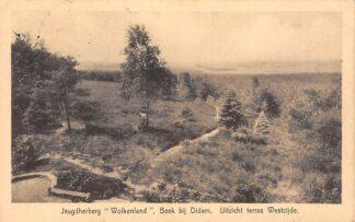 Ansichtkaart Beek (GD) 1933 Jeugdherberg Wolkenland Uitzicht terras Westzijde HC2139
