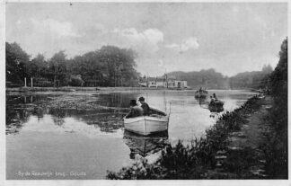 Ansichtkaart Reeuwijk Bij de Reeuwijk brug - Gouda Vissers in bootjes HC2144