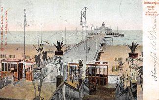 Ansichtkaart Scheveningen 1903 Wandelhoofd Koningin Wilhelmina Strand Zee en Pier HC2174