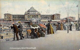 Ansichtkaart Scheveningen 1907 Op het Wandelhoofd Zee en strand HC2175