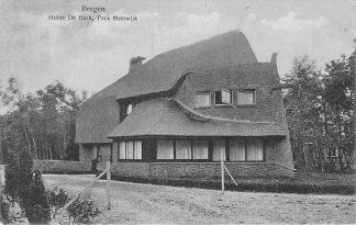 Ansichtkaart Bergen (NH) 1927 Huize De Bark Park Meerwijk HC2176