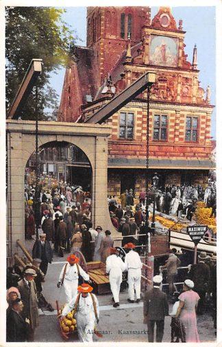 Ansichtkaart Alkmaar Kaasmarkt Klederdracht 1934 HC2186