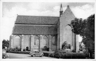 Ansichtkaart Haamstede 1954 Ned. Hervormde Kerk Auto HC2202