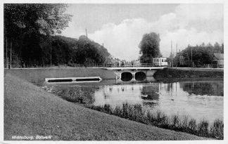 Ansichtkaart Middelburg Bolwerk met tram en molen HC2204