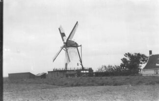 Ansichtkaart Oud-Vossemeer Molen Foto van oudere opname HC2210
