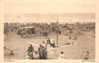 Ansichtkaart Zandvoort Strand leven Zee 1925 HC2213
