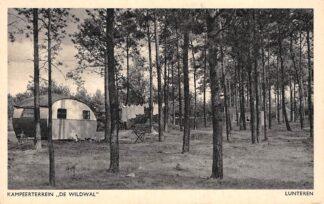 Ansichtkaart Lunteren Kampeerterrein De Wildwal met caravan Camping HC2215