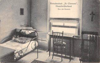 Ansichtkaart Noordwijkerhout 1911 Retraitenhuis St. Clemens Een der kamers HC2219