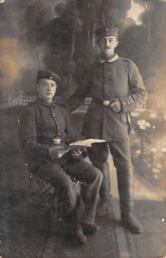 Ansichtkaart Militair WO1 Fotokaart Soldaten 1914-1918 Duitsland HC2231