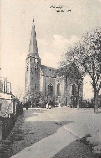 Ansichtkaart Harlingen Groote Kerk HC2232