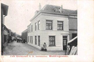 Ansichtkaart Waddinxveen Cafe Restaurant G.H. Vermeulen Waddingsveen HC2244