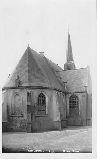 Ansichtkaart Krimpen aan de Lek Fotokaart Hervormde Kerk 1936 HC2248