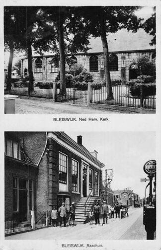 Ansichtkaart Bleiswijk Ned. Hervormde Kerk en Raadhuis HC2252