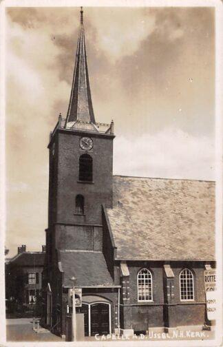 Ansichtkaart Capelle aan den IJssel Fotokaart Ned. Hervormde kerk 1939 HC2253