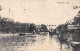 Ansichtkaart Alphen aan den Rijn Alphensche Brug 1910 Café Restaurant en Stalhouderij HC2259